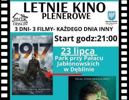 Kawałek plakatu z napisami: 23 lipca Park przy Pałacu Jabłonowskich w Dęblinie