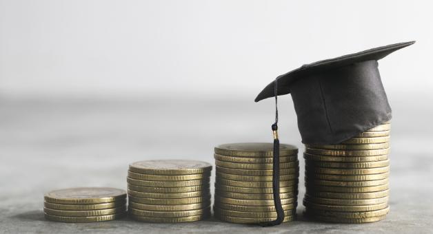 Monety z czapką doktorancką