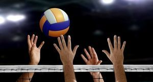 Piłka w powietrzu do siatkówki