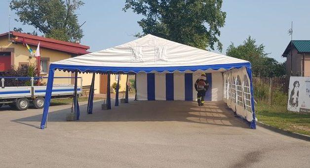 Dezynfekcja namiotu