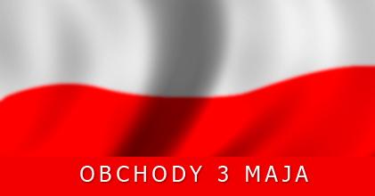 Zaproszenie na obchody Święta Narodowego Konstytucji 3 Maja