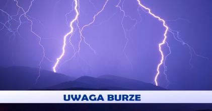 Ostrzeżenie  o burzach z gradem z 17.07.2014