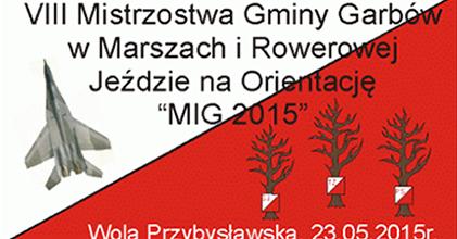 VIII Mistrzostwa Gminy Garbów w Marszach i Rowerowej Jeździe na Orientację MIG 2015