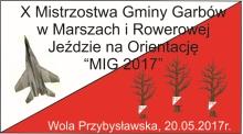 X Mistrzostwa Gminy Garbów w Marszach i Rowerowej Jeździe na Orientację MIG 2017