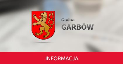 Komunikat Ośrodka Pomocy Społecznej w Garbowie