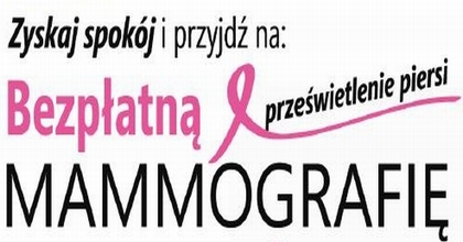 Bezpłatna mammografia - 11 lipca 2018