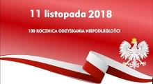 Zaproszenie na obchody 11 Listopada 2018 roku