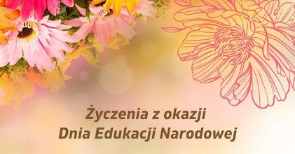 Życzenia z okazji Dnia Edukacji Narodowej - kwiaty