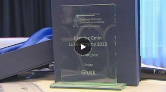 Głusk najlepszą gminą Lubelszczyzny w 2019 roku