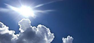 Słońce nad chmurami