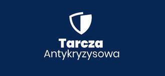 Logo Tarcza Antykryzysowa na granatowym tle