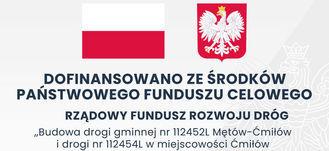 Tablica dofinansowania, flaga i godlo polski z napisami