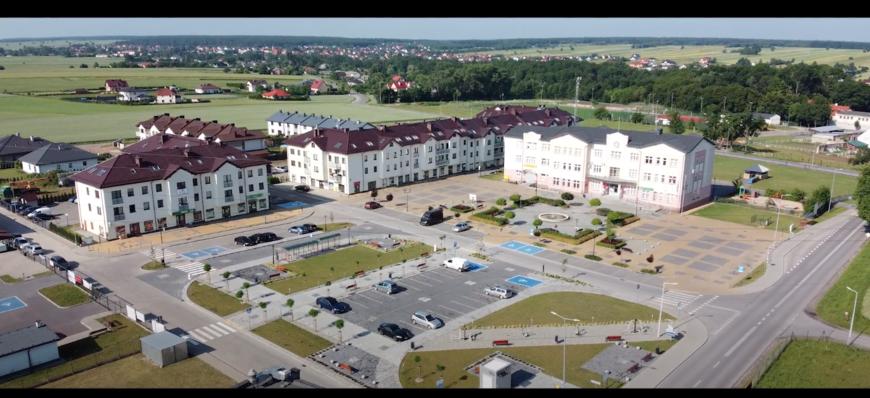 Zdjęcie terenów urzędu z lotu ptaka