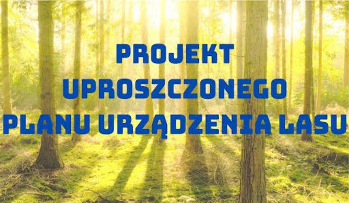 ZAWIADOMIENIE  o wyłożeniu do wglądu projektów uproszczonych planów urządzenia lasu