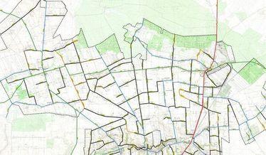 Mapa sieci dróg Gminy Niemce stan na 1 stycznia 2019