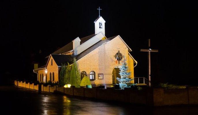 Kościół wieczorową porą