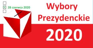 Napis Wybory Prezydenckie 2020