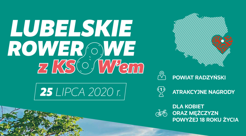 Plakat - Napis Lubelskie Rowerowe z KSOW-em