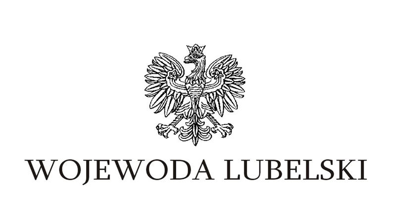 Na zdjęciu godło państwowe z napisem Wojewoda Lubelski