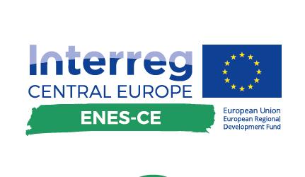 """Zdjęcie przedstawia napis ,,Interreg central europe ENES-CE"""""""