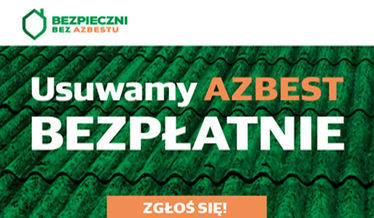 Na zdjęciu plakat akcji usuwania azbestu