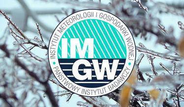 Zdjęcie przedstawia logo imgw