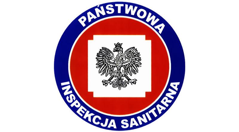 Na zdjęciu logo Państwowej Inspekcji Sanitarnej