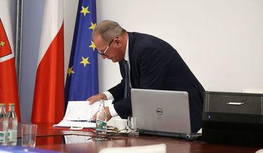 Na zdjęciu Przewodniczący Rady Gminy .