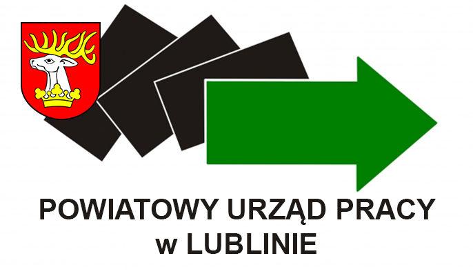 Zdjęcie przedstawia logo Powiatowego Urzędu Pracy w Lublinie