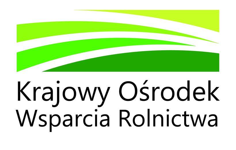 Grafika przedstawia logo Krajowego Ośrodka Wsparcia Rolnictwa
