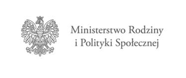 Napis Ministerstwo Rodziny i Polityki Społecznej.