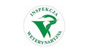 Na zdjęciu logo inspekcji weterynaryjnej