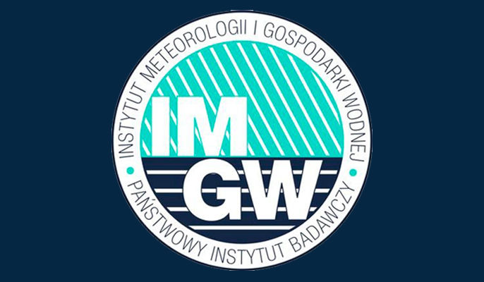 Grafika przedstawia logo IMGW