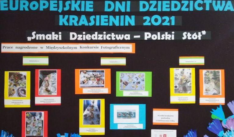 Na zdjęciu tablica przedstawiająca wyróżnione prace.