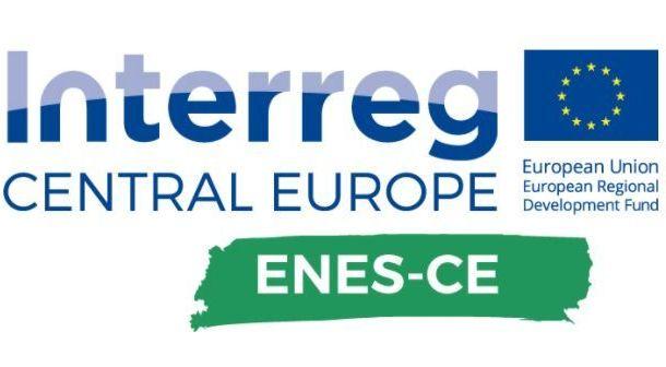 Grafika ogólna napis Interreg Central Europe ENES-CE.
