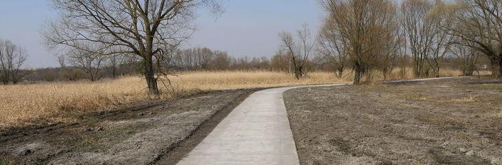 Grafika przedstawia nowopowstałą ścieżkę rowerową