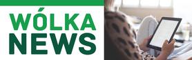Grafika ogólna Wólka News - Logo - kobieta trzymająca tablet