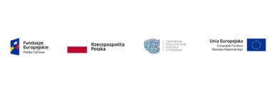 Logotypy unijne Unia Europejska Fundusze Europejskie Polska Cyfrowa Rzeczpospolita Polska CENTRUM PROJEKTÓW POLSKA CYFROWA Europejski Fundusz Rozwoju Regionalnego