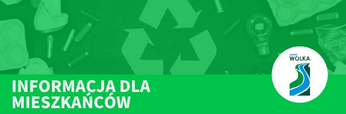 Napis na zielonym tle - Informacja dla mieszkańców