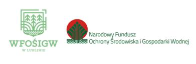 Logo WFOŚIGW w Lublinie oraz Narodowy Fundusz Ochrony Środowiska i Gospodarki Wodnej
