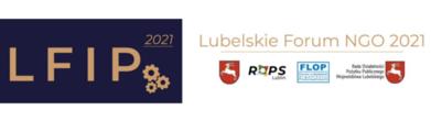 Logo LFIP 2021 i napis Lubelskie Forum NGO 2021