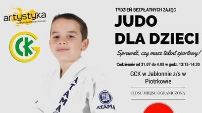 Zapraszamy do GCK na bezpłatne zajęcia z judo