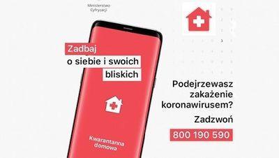 """Aplikacja """"Kwarantanna domowa"""" OBOWIĄZKOWA!"""