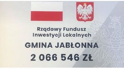 Ponad 2mln zł na inwestycje dla Gminy Jabłonna!