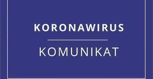Koronawirus - Komunikat