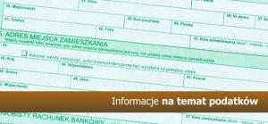 Informacje na temat podatków: od nieruchomości, rolnego i leśnego