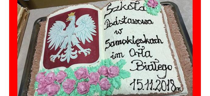 Uroczystość nadania imienia Szkole Podstawowej w Samoklęskach