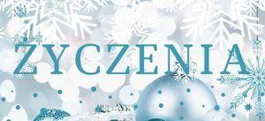 Grafika zimowa z napisem ŻYCZENIA