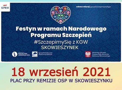 Fragment plakatu- piknik w Skowieszynku