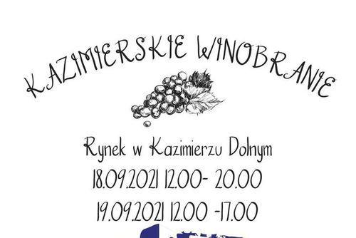 Fragment plakatu kazimierskiego winobrania